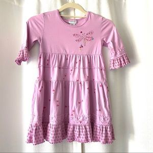 Naartjie Orchid Dragonfly Dress Girls size 6